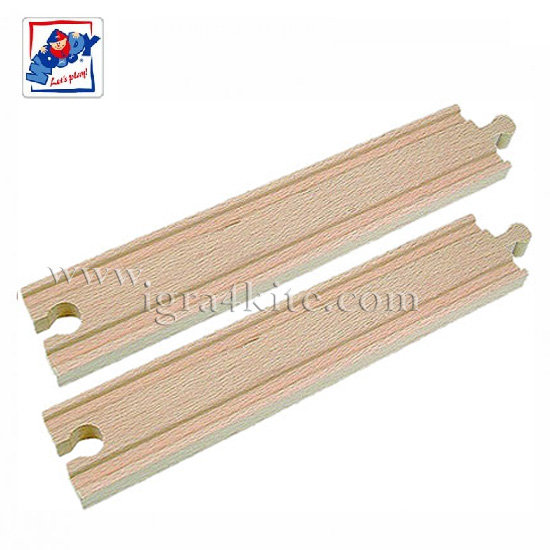 Woody - Дървени релси прави дълги 90562