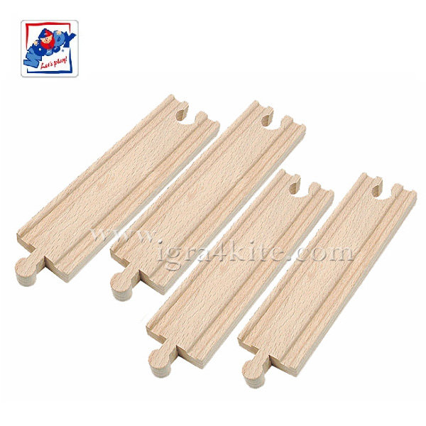 Woody - Дървени релси прави средни 90576