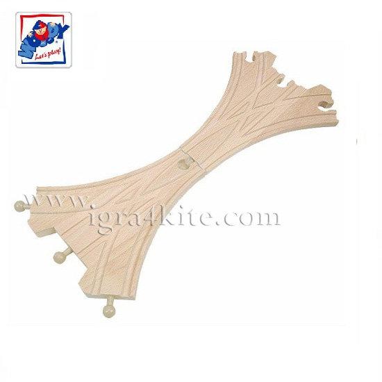 Woody - Дървени релси разклонение Х 90566