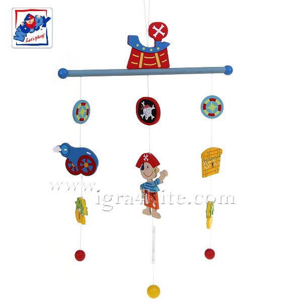 Woody - Дървена висяща играчка Пирати 90979
