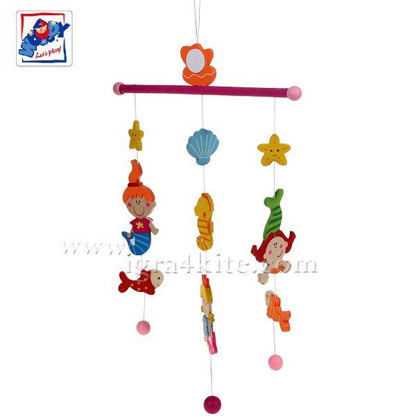 Woody - Дървена висяща играчка Русалки 90979