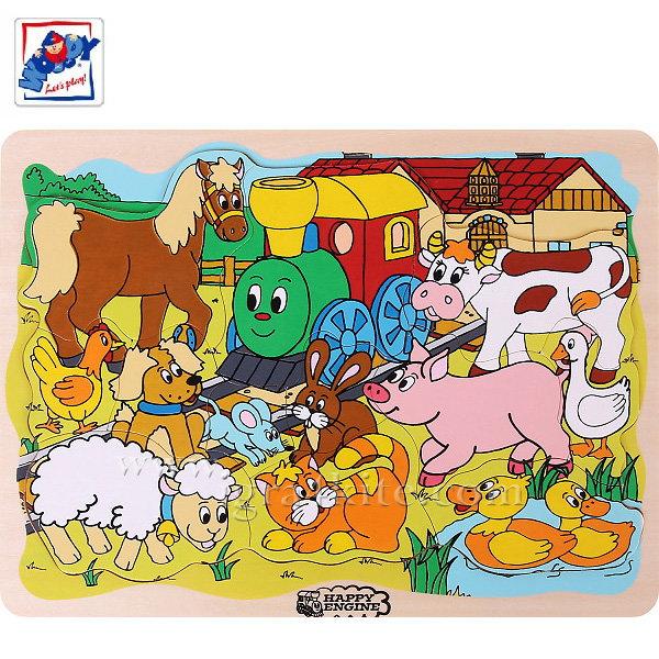 Woody - Дървен пъзел веселото влакче 93008