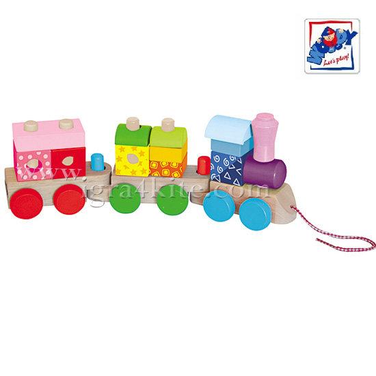 Woody - Дървен дидактически влак 91148