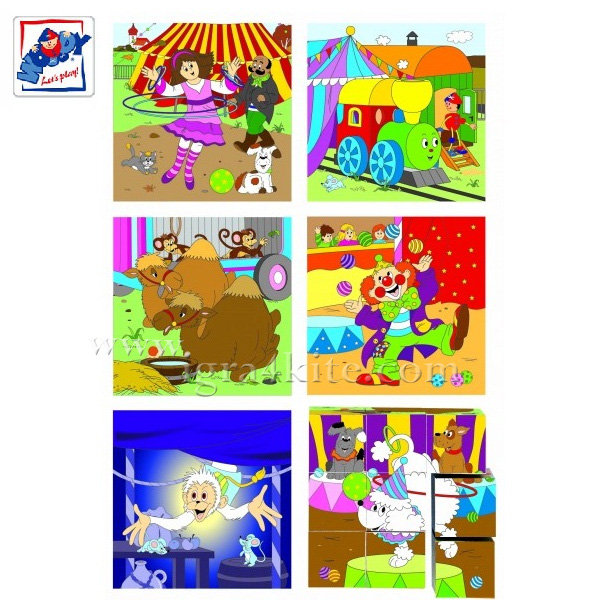 Woody - Дървени кубчета Цирк 93052