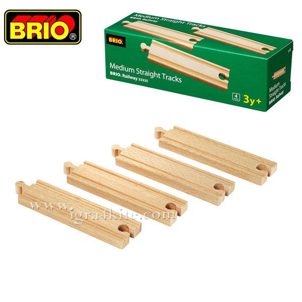 Brio - Комплект дървени релси 4бр. 33335