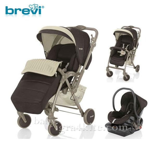Brevi -Комбинирана количка VERSO Brown 713398