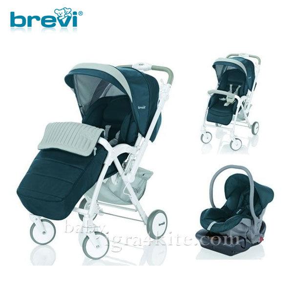 Brevi -Комбинирана количка VERSO grigio/titanio 53817