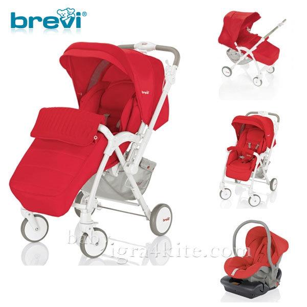 Brevi -Комбинирана количка VERSO Red 713233