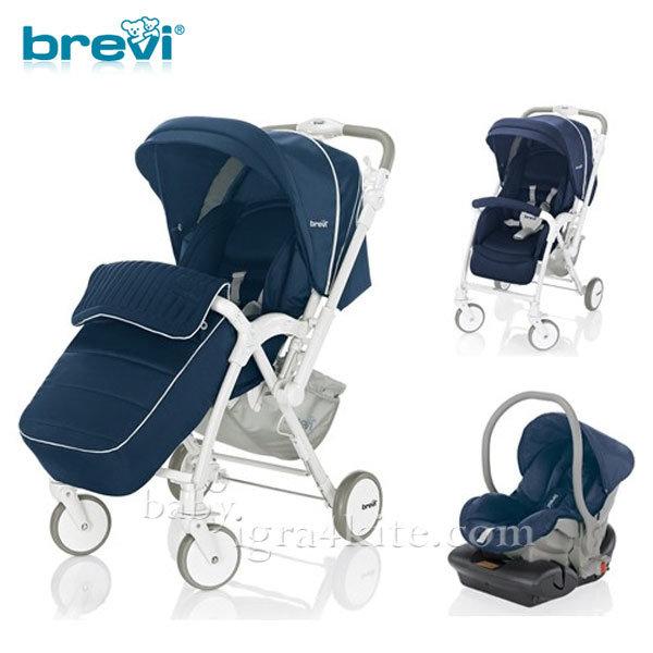 Brevi -Комбинирана количка VERSO Dark blue 713239