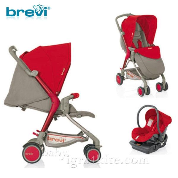 Brevi -Комбинирана количка Boomerang Red 715233