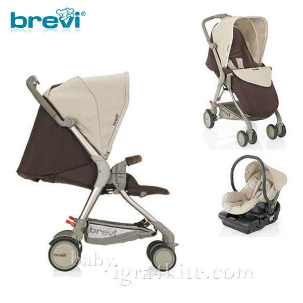 Brevi -Комбинирана количка Boomerang Brown 715398