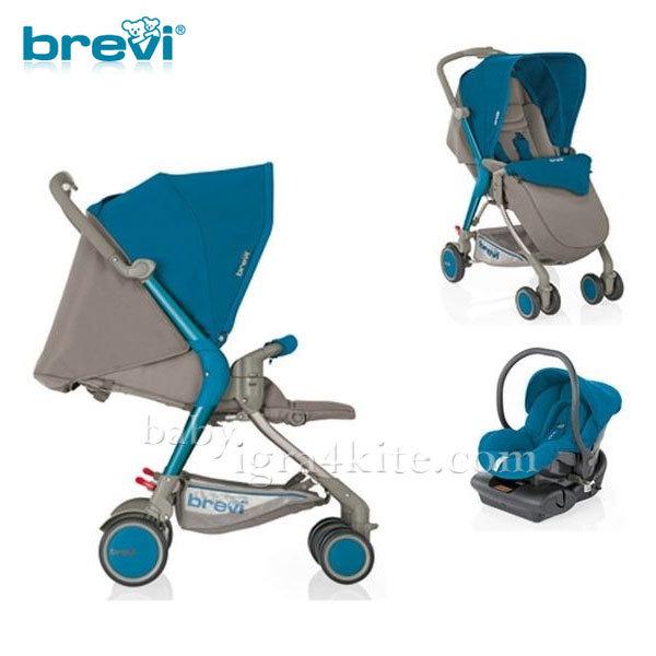 Brevi -Комбинирана количка Boomerang Blue 715260