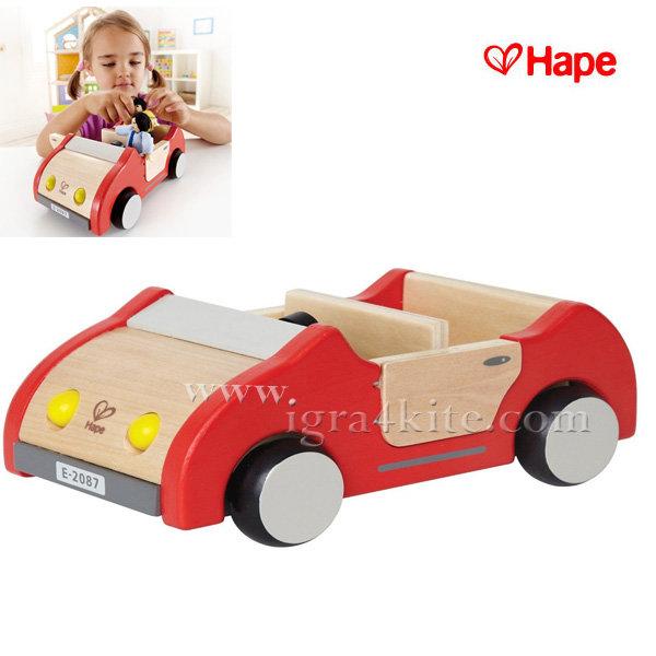 Hape - Дървена играчка количка H3475