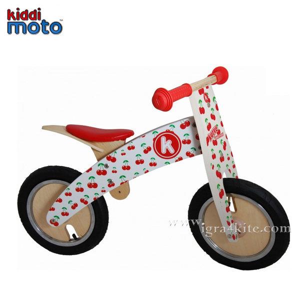 Kiddimoto - Детско дървено колело без педали Kurve Cherry