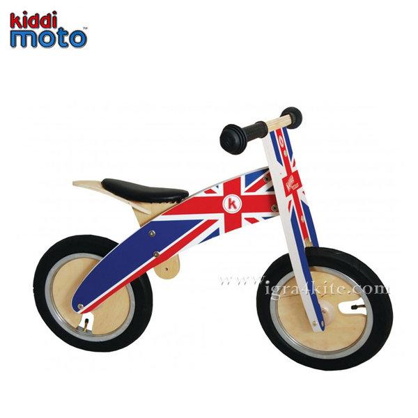 Kiddimoto - Детско дървено колело без педали Kurve Union Jack 601