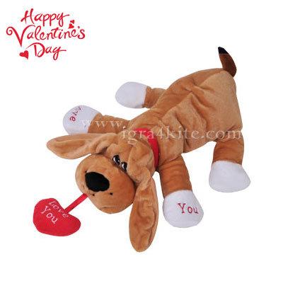 Плюшена играчка куче за св. Валентин 22132801