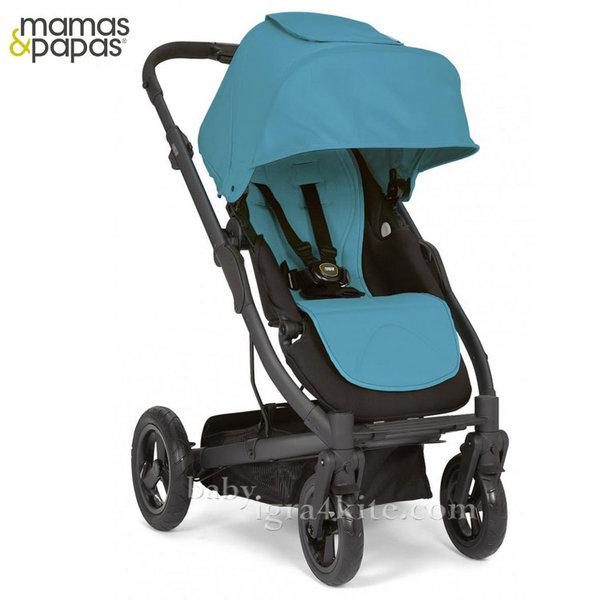 Mamas & Papas - Комбинирана количка Sola City Black Blue Sea