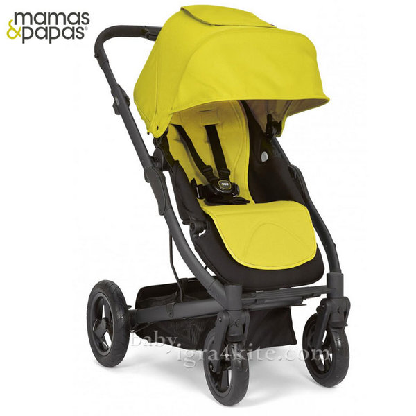 Mamas & Papas - Комбинирана количка Sola City Black Lime Green