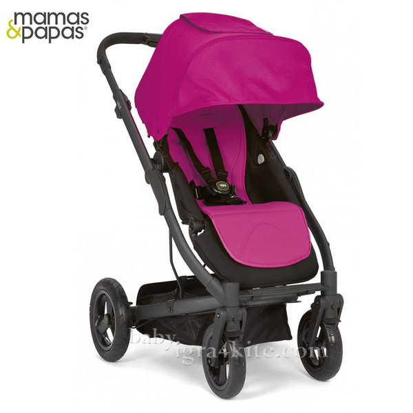 Mamas & Papas - Комбинирана количка Sola City Black Pink