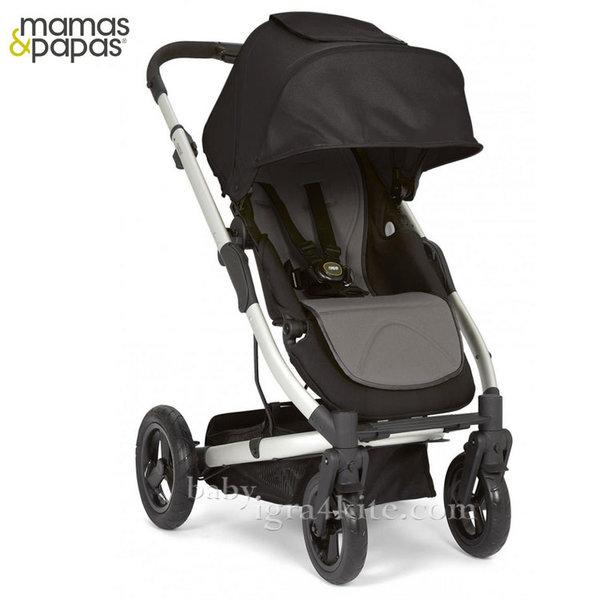 Mamas & Papas - Комбинирана количка Sola City Silver Black Grey