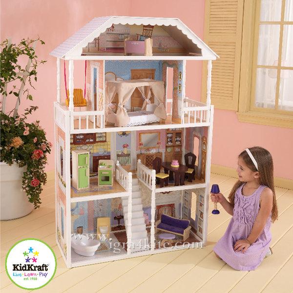 KidKraft - Куклена къща Савана с мебели 65023