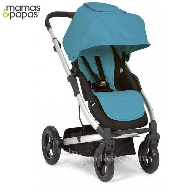 Mamas & Papas - Комбинирана количка Sola City Silver Blue Sea