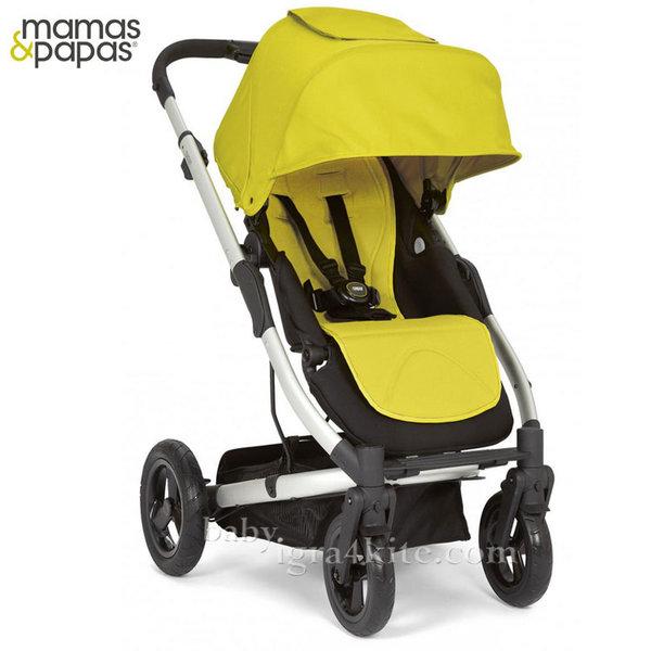 Mamas & Papas - Комбинирана количка Sola City Silver Lime Green