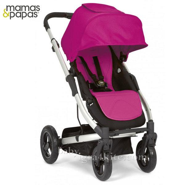 Mamas & Papas - Комбинирана количка Sola City Silver Pink