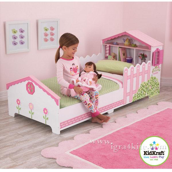 KidKraft - Детско легло с къща за кукли 76255