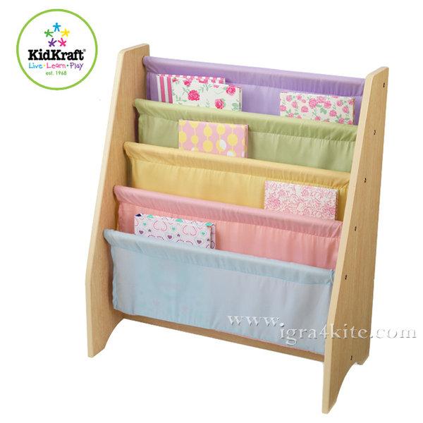 KidKraft - Детска библиотека от дърво и текстил 14225