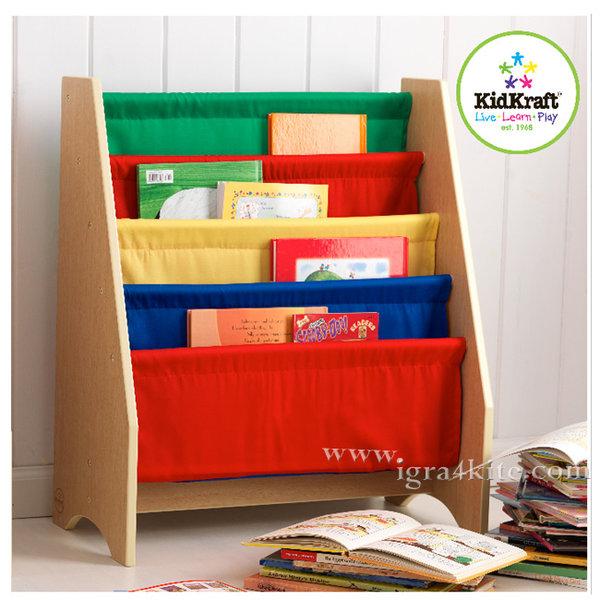 KidKraft - Детска библиотека от дърво и текстил 14226