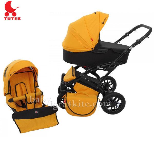 Tutek - Комбинирана бебешка количка 2 в 1 Tambero Yellow/Black