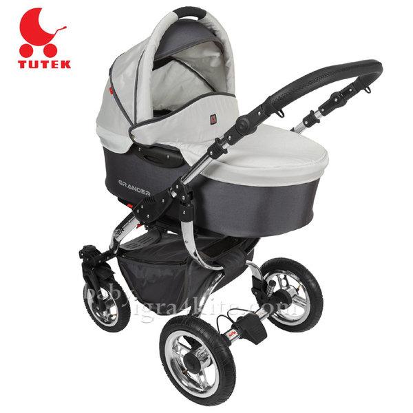 Tutek - Комбинирана количка 2 в 1 Grander Graphite/Silver