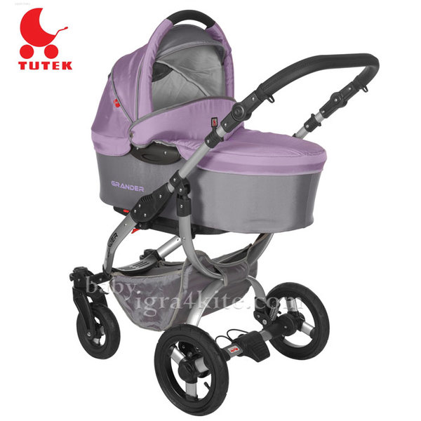 Tutek - Комбинирана количка 2 в 1 Grander Grey/Heather