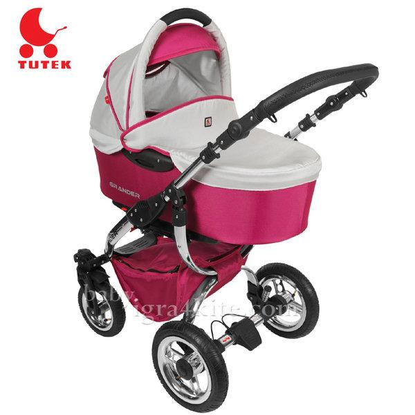 Tutek - Комбинирана количка 2 в 1 Grander Chrome Purple/Silver