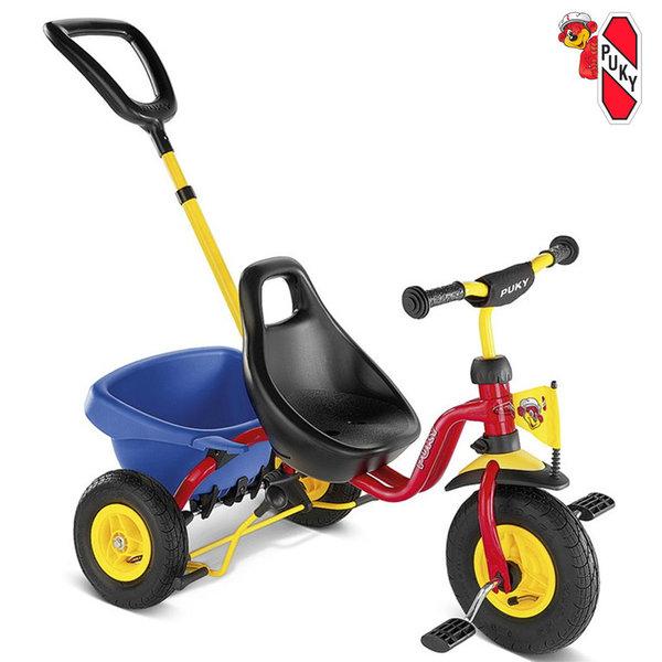 Puky - Триколка с родителски контрол 2+ CAT 1 L Red 2373