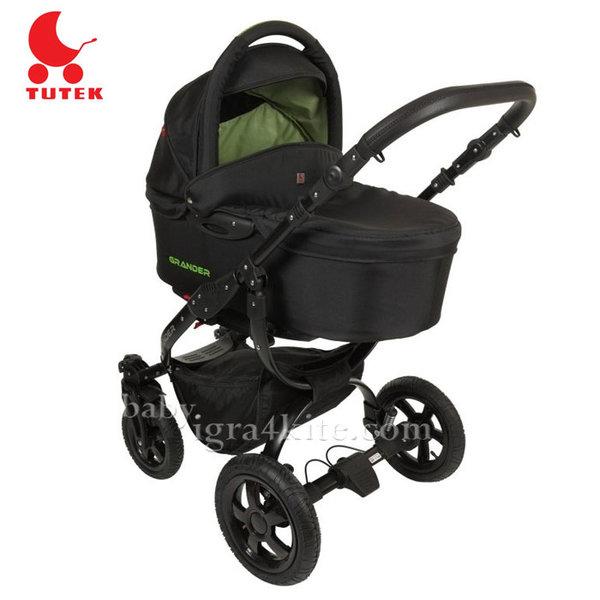 Tutek - Комбинирана количка 2 в 1 Grander Black/Green
