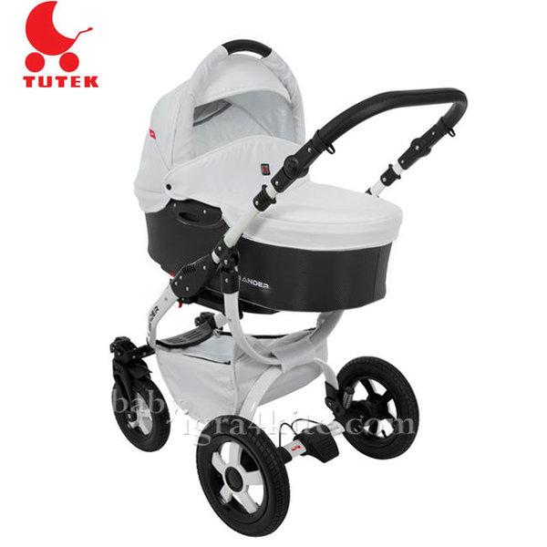Tutek - Комбинирана количка 2 в 1 Grander Black/White