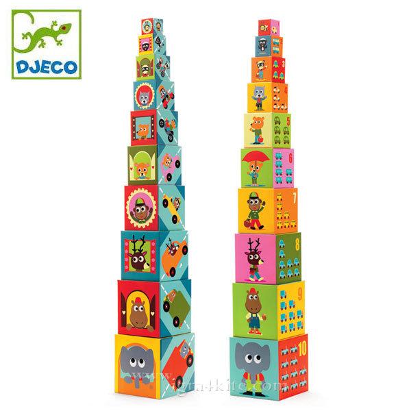 Djeco - Детски кубчета превозни средства 08508