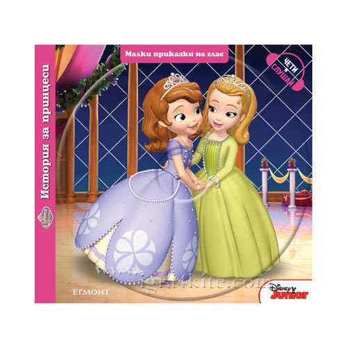 Детска книжка Дисни Princess История с принцеси с диск