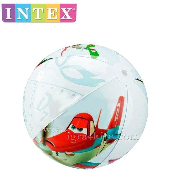Intex - Детска надуваема топка Planes 61см 58058
