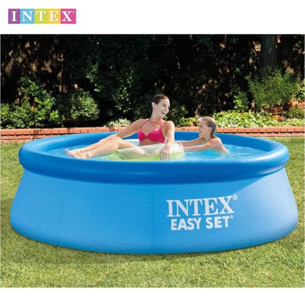 Intex - Надуваем плувен басейн Easy Set 244x76см 28110