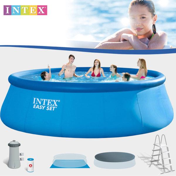 Intex - Надуваем басейн Easy Set с филтърна помпа 28168