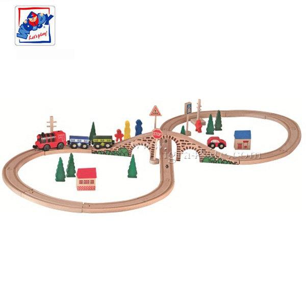 Woody - Детски влак осмица с локомотив 91121