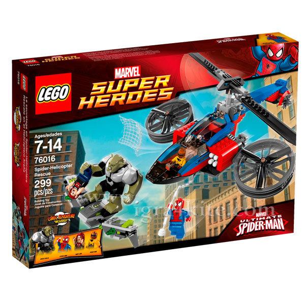 Lego 76016 Super Heroes - Спайдърмен Спасяване със спайдър-хели