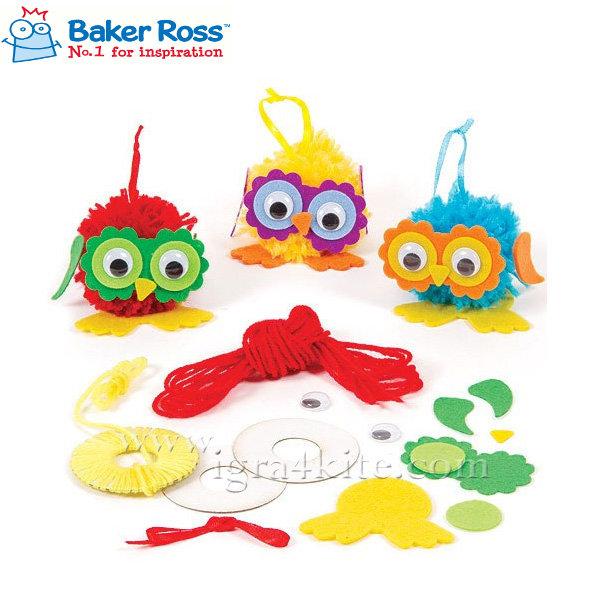 Baker Ross - Направи Пом-Пом Бухал EF469