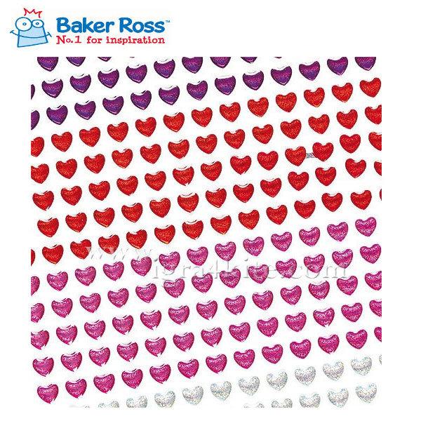 Baker Ross - Блестящи 3D сърца за декорация ET825