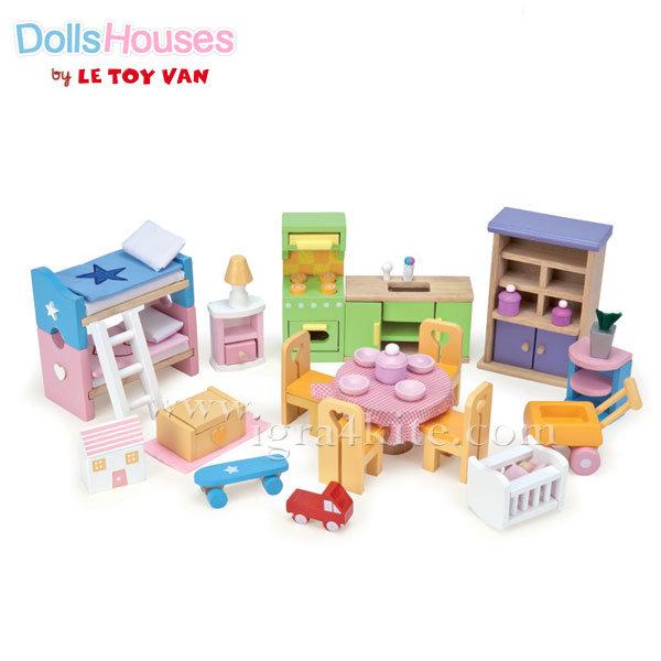 Le Toy Van - Обзавеждане за куклена къща Starter set ME040