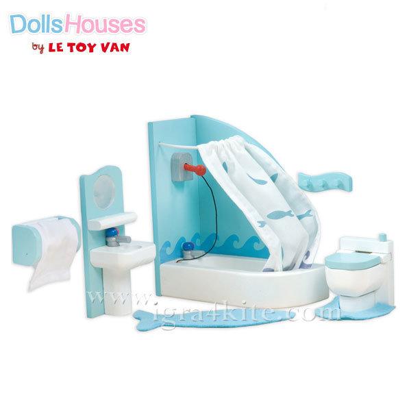 Le Toy Van - Обзавеждане за куклена къща Sugar Plam баня ME053