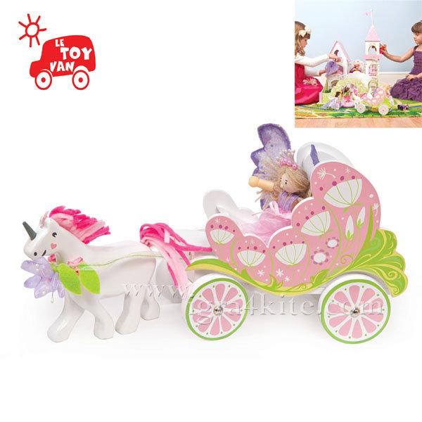Le Toy Van - Дървен сет за игра Каляската на феите TV642